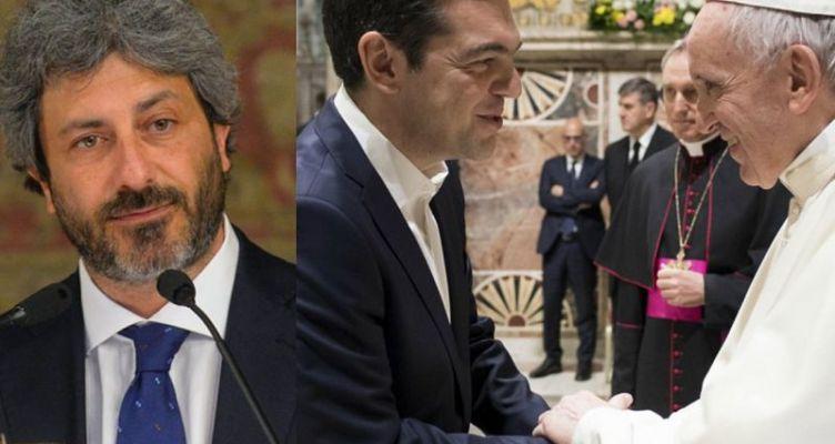 Στην Ιταλία ο Τσίπρας: Συνεργασία ΣΥ.ΡΙΖ.Α. και 5 Αστέρων – Συνάντηση με τον Πάπα