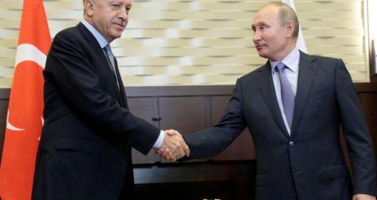 Σε εξέλιξη η συνάντηση Πούτιν – Ερντογάν στο Σότσι