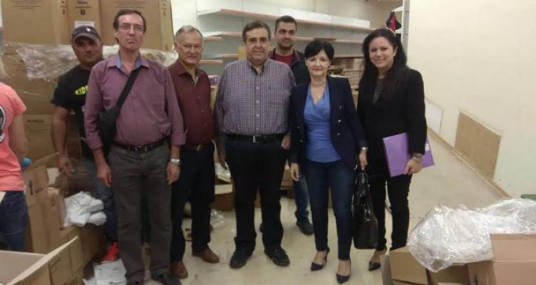 Στο Κοινωνικό Παντοπωλείο Αγρινίου η Αντιπεριφερειάρχης Μαρία Σαλμά