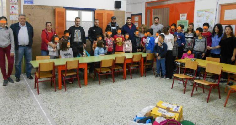 Θύρα 6: Ευχαριστίες για την συνεισφορά στο 1ο Ειδικό Δημοτικό Σχολείο Αγρινίου