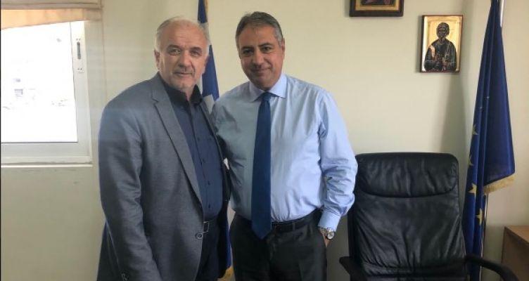 Μεσολόγγι: Συνάντηση του Δημάρχου Κώστα Λύρου με τον Διοικητή 6ης ΥΠΕ Γιάννη Καρβέλη