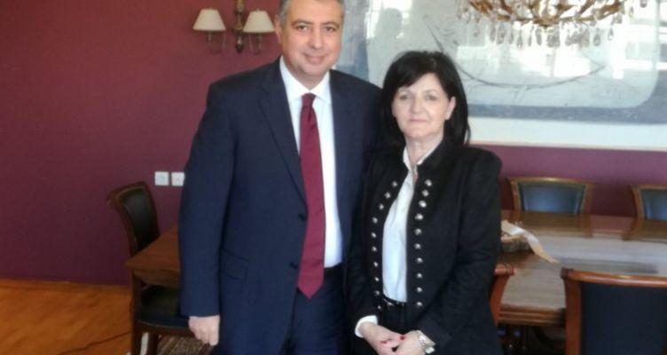 Συνάντηση της Μαρίας Σαλμά με τον Διοικητή της 6ης ΥΠΕ