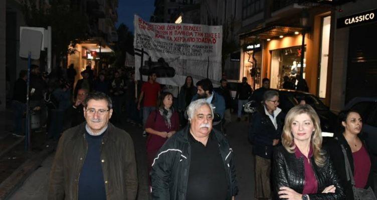 Η Δημοτική Αρχή στην πορεία για την 46η Επέτειο από το Πολυτεχνείο
