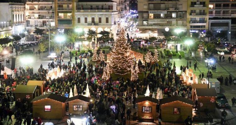 Πάτρα: Άναμμα φωτισμού δένδρου και Χριστουγεννιάτικου χωριού