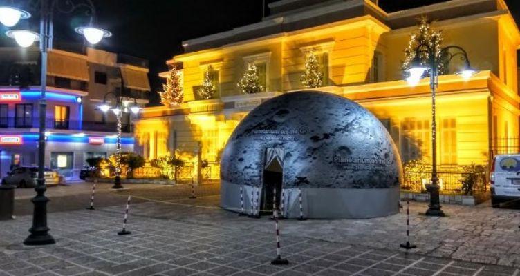 Ψηφιακό Πλανητάριο στην Κεντρική πλατεία Ι.Π. Μεσολογγίου