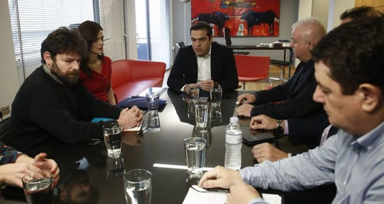 Συνάντηση Τσίπρα με την Ομοσπονδία εργαζομένων Ο.Τ.Ε.