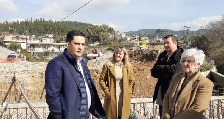Επίσκεψη Παπαναστασίου στο έργο Αντιπλημμυρικής Προστασίας Χειμάρρου Λυκοραχίτη