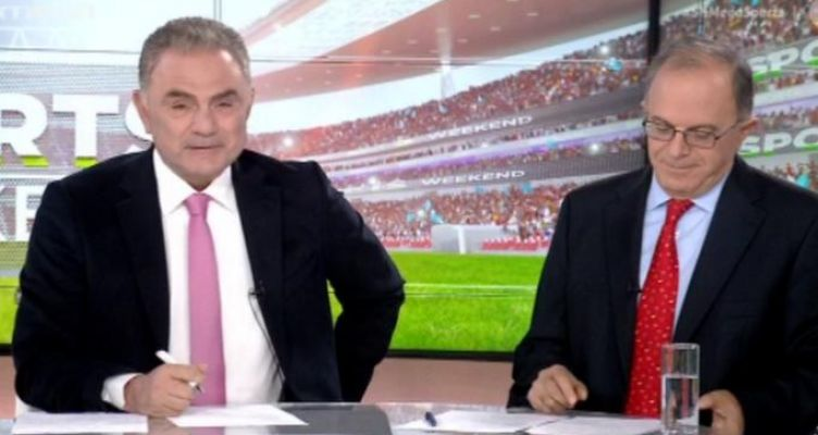 Συγκινημένος ο Χρήστος Σωτηρακόπουλος στην πρεμιέρα του Sports Weekend στο Mega