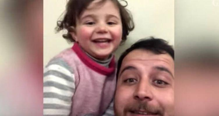 Πατέρας μαθαίνει την κορούλα του να γελάει κάθε φορά που πέφτουν βόμβες στη Συρία