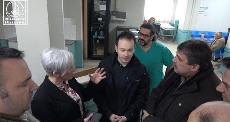 Αμφιλοχία: Στο Κέντρο Υγείας ο π. Υπουργός και βουλευτής του ΣΥ.ΡΙΖ.Α. Ανδρέας Ξανθός