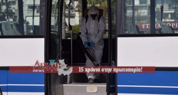 Απολύμανση στα αστικά λεωφορεία του Μεσολογγίου