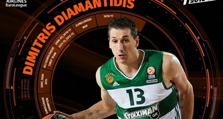 Μέλος της ομάδας της δεκαετίας στην Euroleague Basketball ο Διαμαντίδης (Βίντεο)