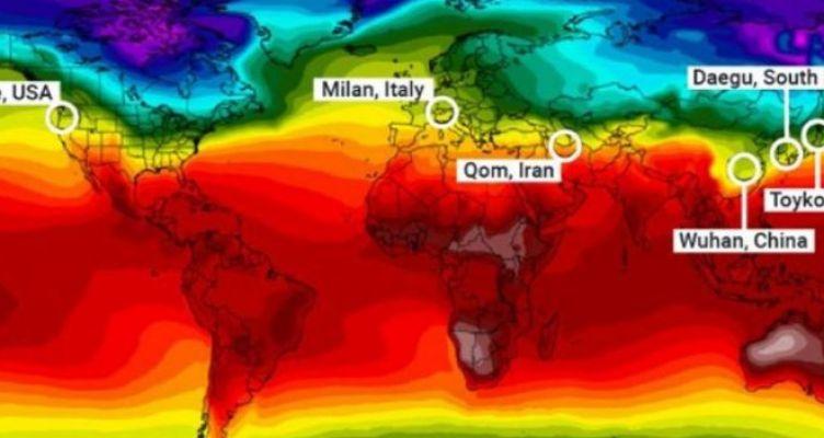 Κορωνοϊός και κλίμα: Αυτή είναι η οριζόντια «γραμμή του θανάτου» στον πλανήτη!