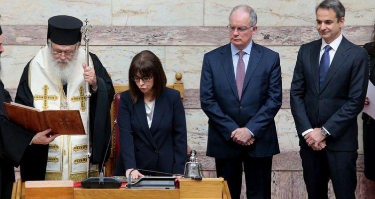 Ορκίστηκε η Αικατερίνη Σακελλαροπούλου νέα Πρόεδρος της Δημοκρατίας