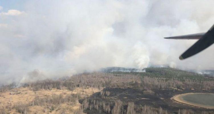 Μεγάλη φωτιά στο δάσος δίπλα στο Τσερνόμπιλ αύξησε τη ραδιενέργεια!