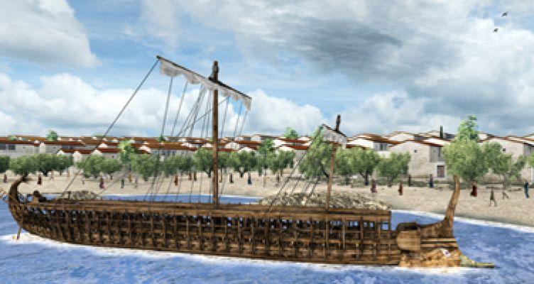 Εικονική αναπαράσταση της «Ναυμαχίας της Σαλαμίνας» από το Ίδρυμα Μείζονος Ελληνισμού
