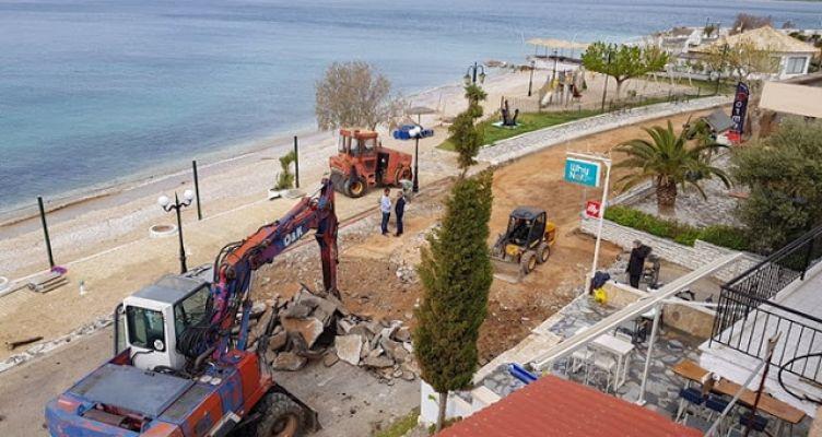 Πάλαιρος:  Συνεχίζεται το έργο της αστικής ανάπλασης του παραλιακού μετώπου