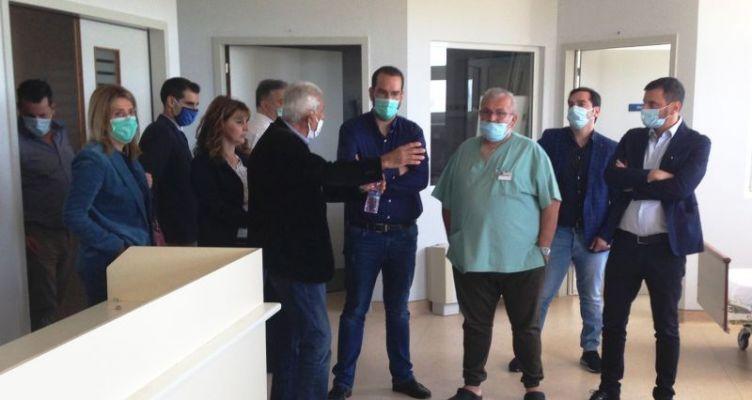 Ο Νεκτάριος Φαρμάκης στο Νοσοκομείο Αμαλιάδας: «Κάνουμε τις υποσχέσεις πράξεις»