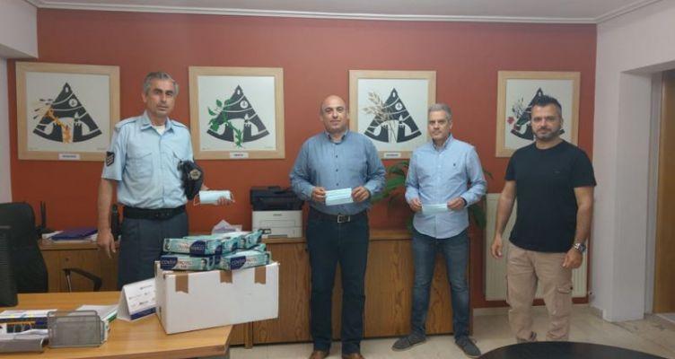 Δωρεά μασκών στο Δ. Ναυπακτίας  από τη Διεθνή Ένωση Αστυνομικών – Τοπική Διοίκηση Αιτωλίας