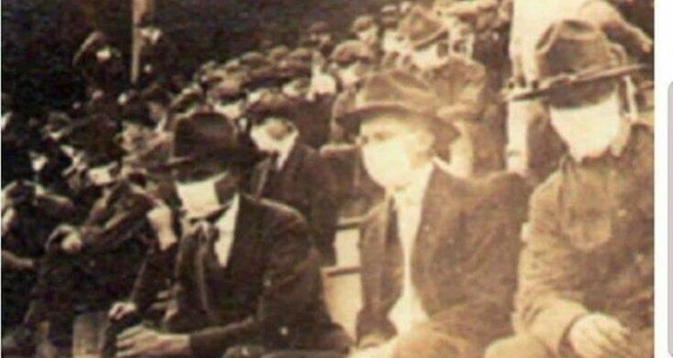Φίλαθλοι φορούσαν μάσκες κορωνοϊού στην πανδημία του 1918 (Φωτό)