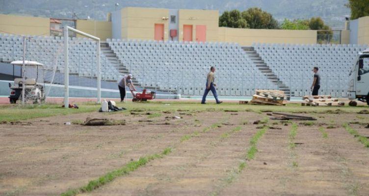 Αντικατάσταση χλοοτάπητα του Παμπελοποννησιακού Σταδίου