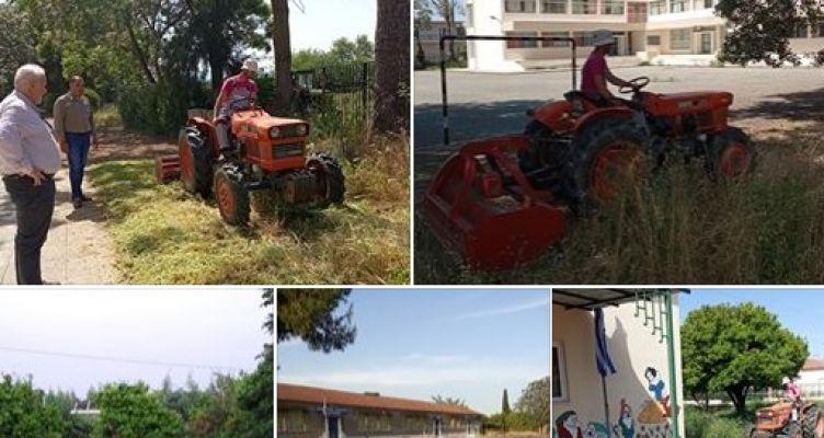 Εργασίες καθαρισμού των Σχολείων στα Καλύβια Αγρινίου