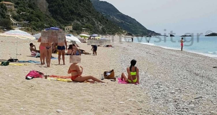 Πρωτόγνωρες εικόνες: Χωρίς ξαπλώστρες η διάσημη παραλία «Κάθισμα» της Λευκάδας