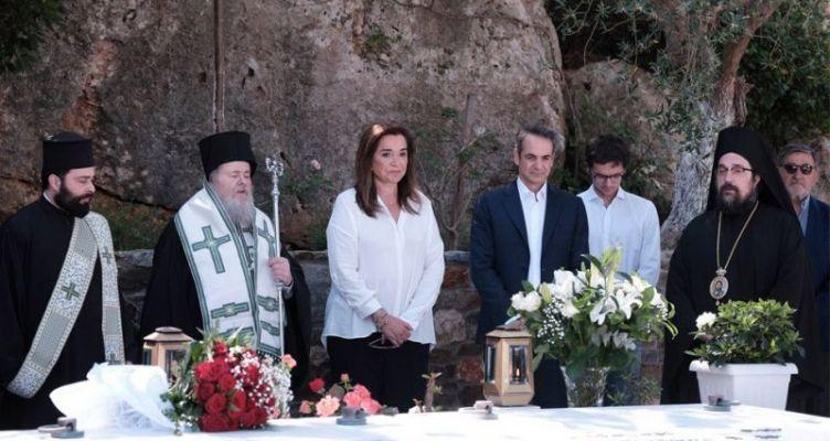 Μητσοτάκης: Συγκίνηση στο μνημόσυνο του Κωνσταντίνου Μητσοτάκη στα Χανιά