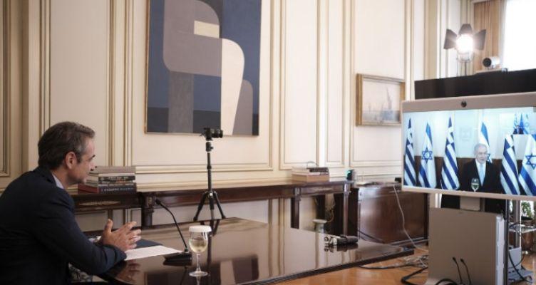 Τηλεδιάσκεψη Κυριάκου Μητσοτάκη με τον Πρωθυπουργό του Ισραήλ