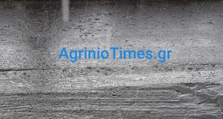 Χαλάζι και καταρρακτώδης βροχή έπληξαν τέλη Μαΐου το Αγρίνιο! (Βίντεο – Φωτό)