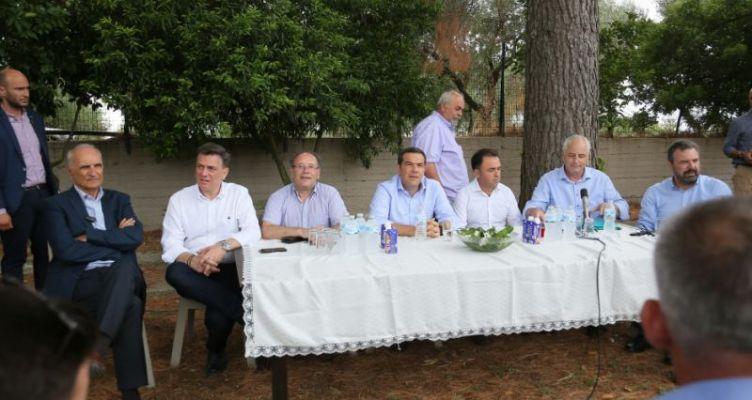 Επίσκεψη του Αλέξη Τσίπρα στον  Αγροτικό Σύλλογο Ελαιοπαραγωγών Αιτωλικού