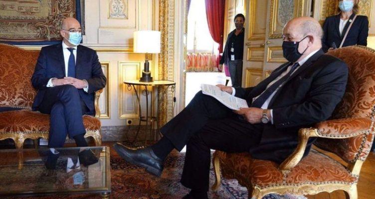Ο Δένδιας με τον Γάλλο ΥΠ.ΕΞ.: Οι τουρκικές προκλήσεις στο Συμβούλιο Εξωτερικών της Ε.Ε.