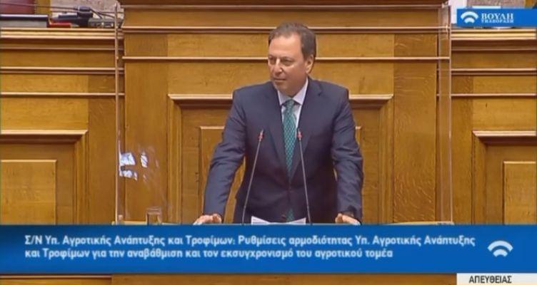 Τοποθέτηση του Σπήλιου Λιβανού στη Βουλή για το αγροτικό νομοσχέδιο (Βίντεο)