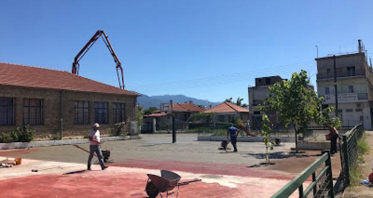 2ο Δημοτικό Σχολείο Παναιτωλίου: Ξεκίνησαν οι εργασίες ανάπλασης του προαυλίου