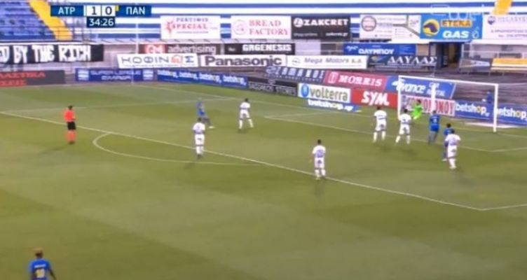 SL1 – ΠΑΝ: Με μακρινή κεφαλιά – λόμπα ο Μουνιέ ισοφάρισε σε 1-1 (Βίντεο)