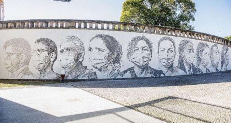 Τοιχογραφία του Vhils σε πανεπιστημιακό Νοσοκομείο του Πόρτο