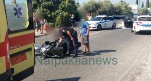 Τροχαίο με δύο τραυματίες στην περιοχή του γηπέδου στην Ναύπακτο