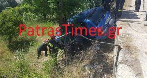 Πάτρα: Αυτοκίνητο έπεσε σε γκρεμό – Σώθηκε η 24χρονη οδηγός