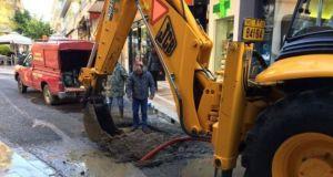 Αγρίνιο:Διακοπή της κυκλοφορίας των οχημάτων στην οδό Μακρή