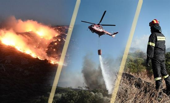 Νύχτα αγωνίας από τον πύρινο εφιάλτη: Οι φλόγες στην παραλιακή – Διακόπηκε η κυκλοφορία