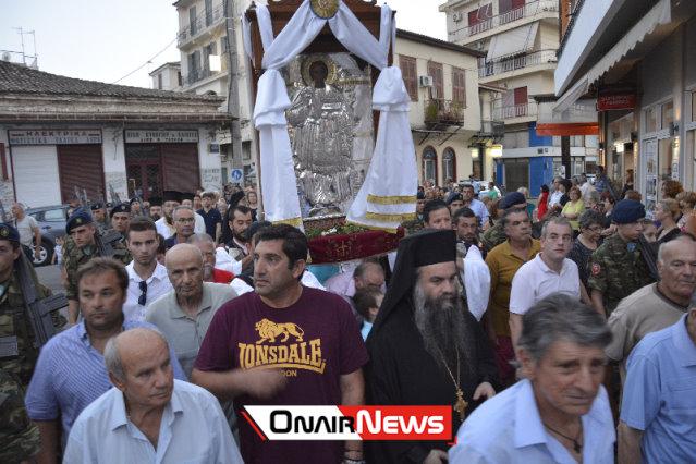 Μέγας Πανηγυρικός Εσπερινός μετ' Αρτοκλασίας στον Άγιο Παντελεήμονα στο Μεσολόγγι (Φωτογραφίες)