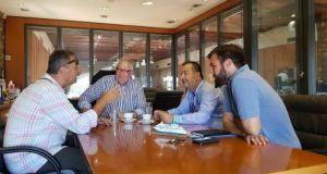 Συνάντηση της επιτροπής διεκδίκησης Παράκτιων Μεσογειακών αγώνων με τον πρόεδρο…