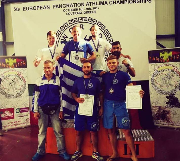 Τρεις Καινουργιώτες αθλητές στην κορυφή του Πανευρωπαϊκού Πρωταθλήματος Παγκράτιου