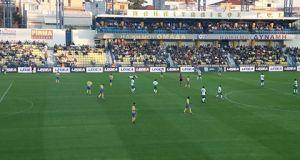 Τέλος πρώτου ημιχρόνου: Παναιτωλικός (0-0) Λεβαδειακός