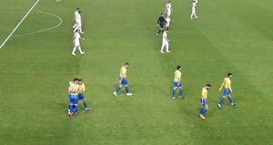 Τέλος πρώτου ημιχρόνου: Παναιτωλικός (2-0) Α.Ε.Λ.