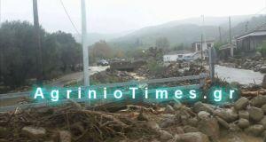 Η κακοκαιρία «έκλεισε» δρόμους στην Αιτωλοακαρνανία – Που χρειάζονται αλυσίδες