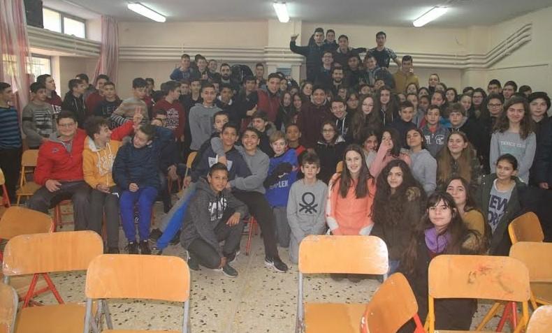 Α.Ο. Αγρινίου: Επίσκεψη στο 2ο Γυμνάσιο Αγρινίου (Φωτό)