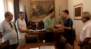 Συνάντηση του Γιώργου Παπαναστασίου με τον Πρωταθλητή Ελλάδος Κώστα Σταμούλη…