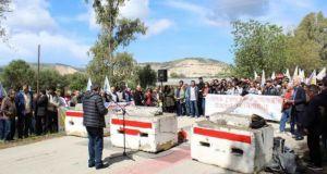 Ο Δήμαρχος Πατρέων στην διαδήλωση της Επιτροπής Ειρήνης στον Άραξο