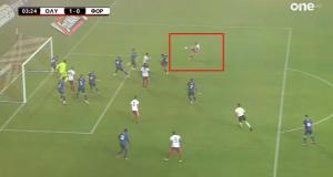 Με εκπληκτικό σουτ ο Αμφιλοχιώτης Γ. Μασούρας έκανε το 1-0…